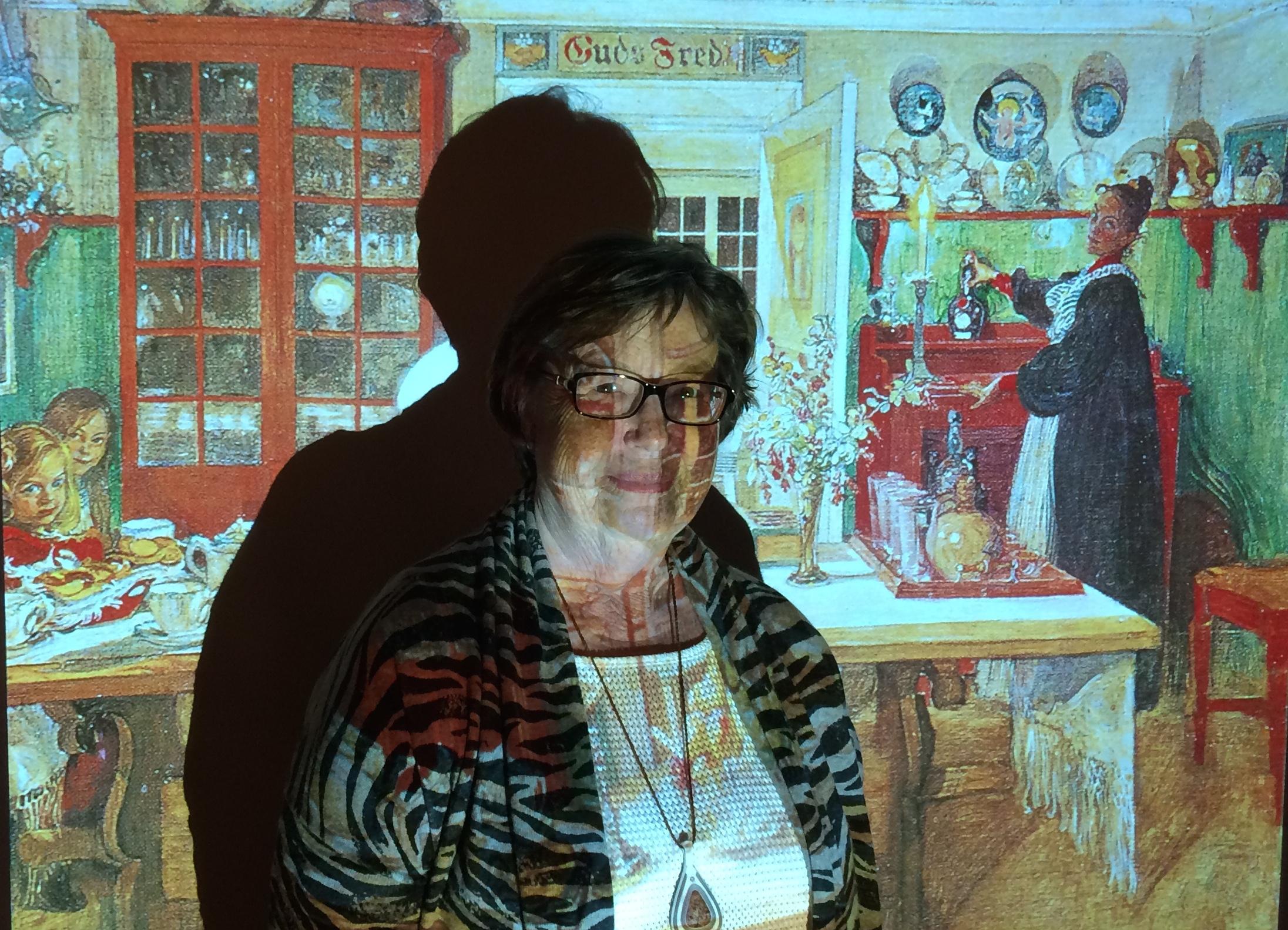 Marianne Nilsson berättade levande om Karin Larsson