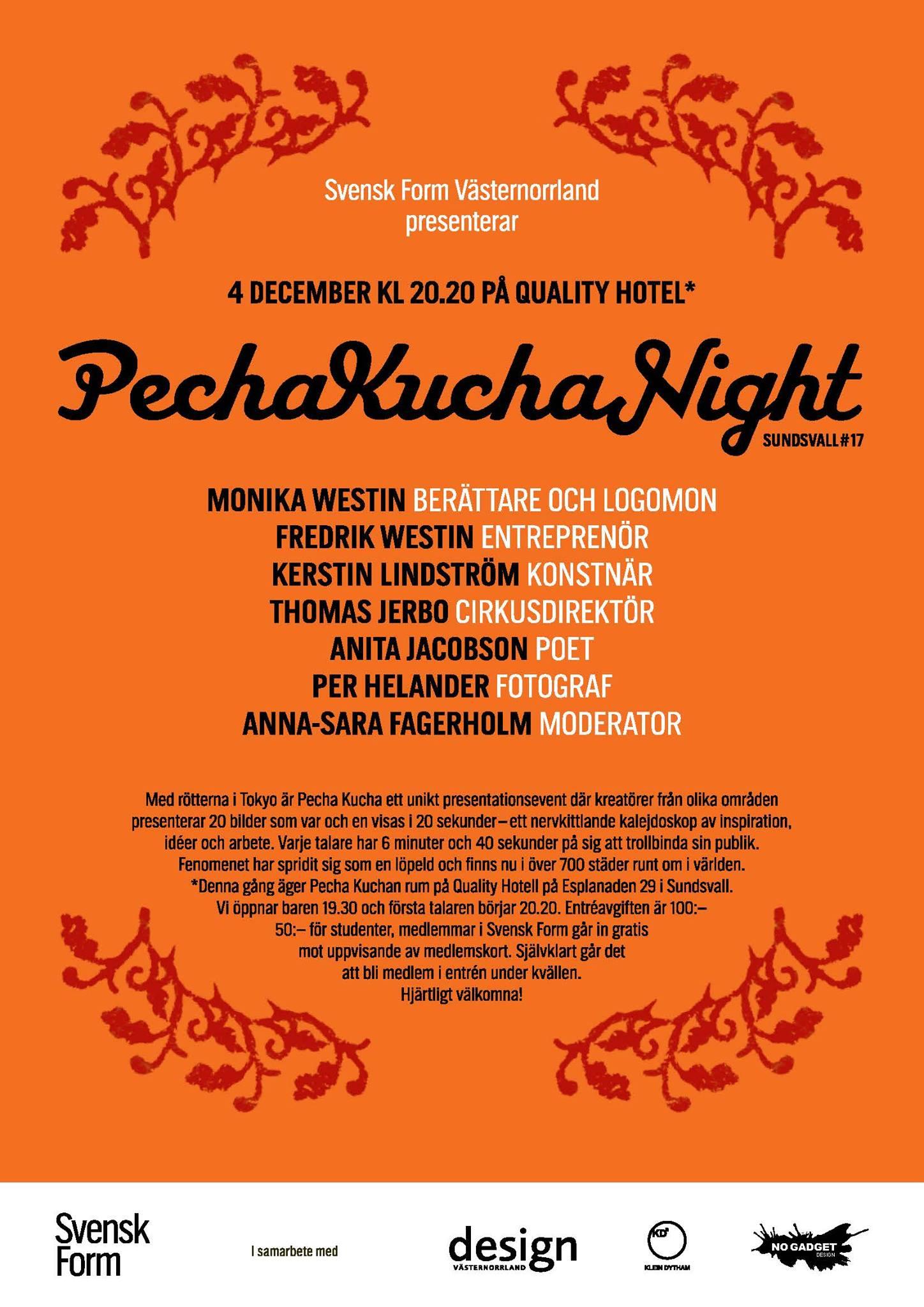 Pecha Kucha 17 Sundsvall