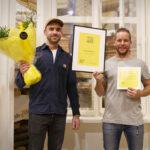 Jupiter & Grans grundare Daniel Blomqvist och snickaren Jens Pettersson.